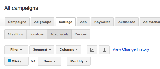 Google AdWords campaign settings