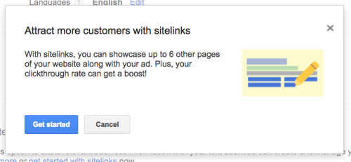 Add sitelinks to Google AdWords ads