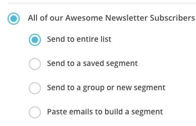 MailChimp Send to List Segment