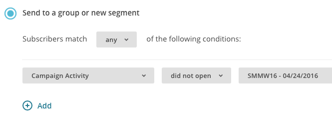 Mailchimp List Segment Parameters