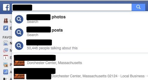 Find Page and Profile in Facebook Search