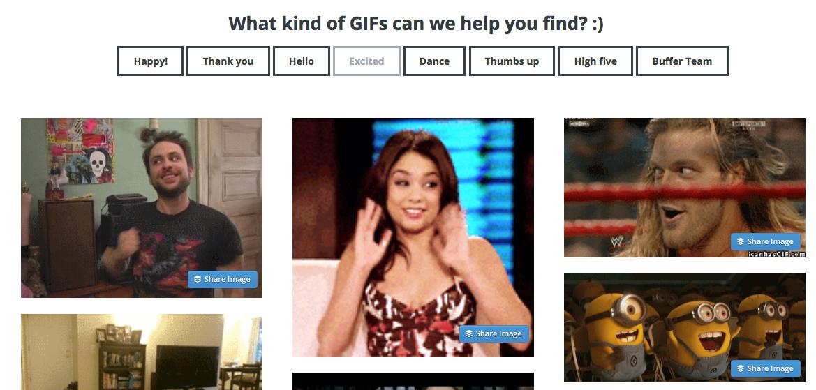 Buffer GIF Search