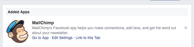 Name MailChimp tab label on your Facebook Page