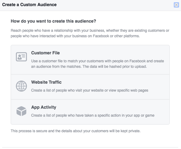 Create Facebook Custom Audience with Customer Email List