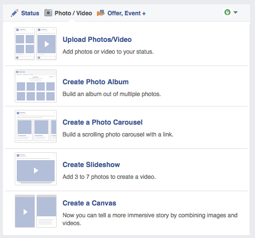 Facebook Create a Slideshow