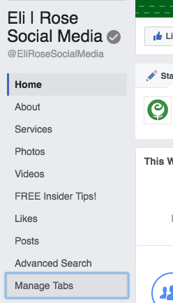 Manage Facebook Page Tabs