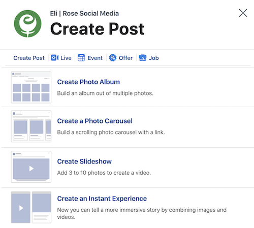 Create a Slideshow using Creator Studio