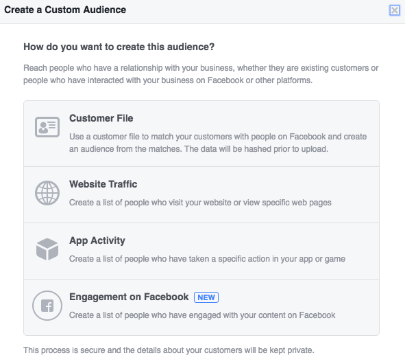 Facebook Custom Audience from Web Traffic