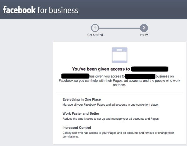 Facebook Business Manager: Accepting an Invite
