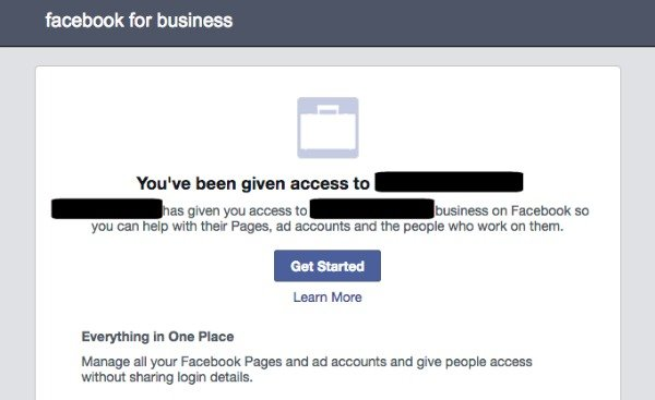 Facebook business manager accepting an invite accept access to business manager stopboris Choice Image