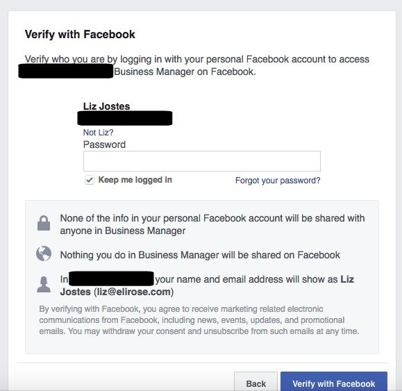 Facebook business manager accepting an invite verify business manager facebook stopboris Choice Image