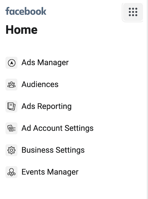 Business Manager Settings