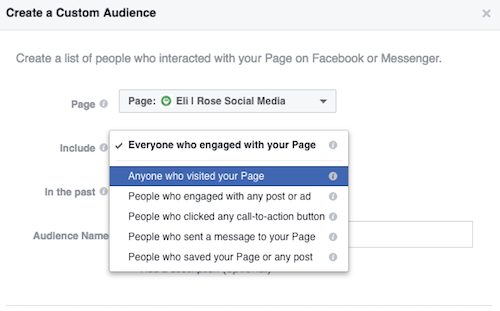Choose Page Engagement Type