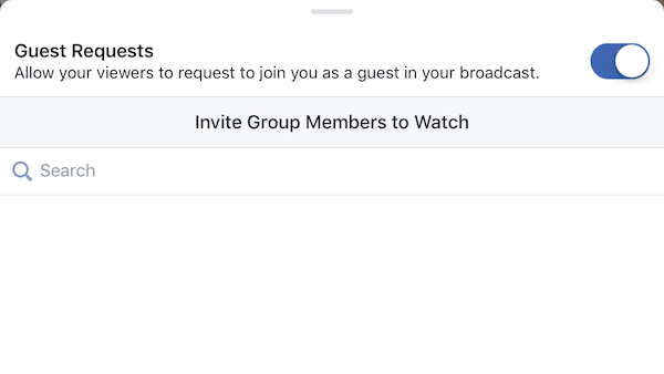 Allow Facebook Live guest requests