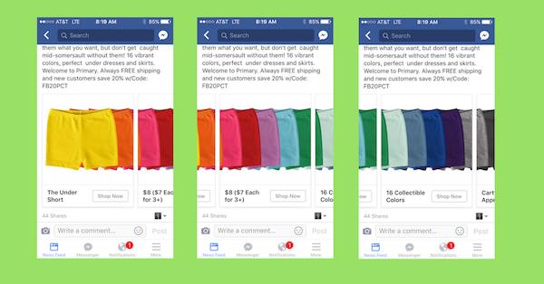 Colorful Facebook Carousel Ad design