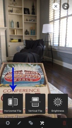 horizontally flip facebook live video view