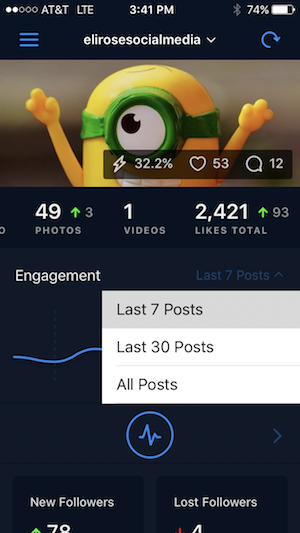 FollowersPlus Instagram Engagement History