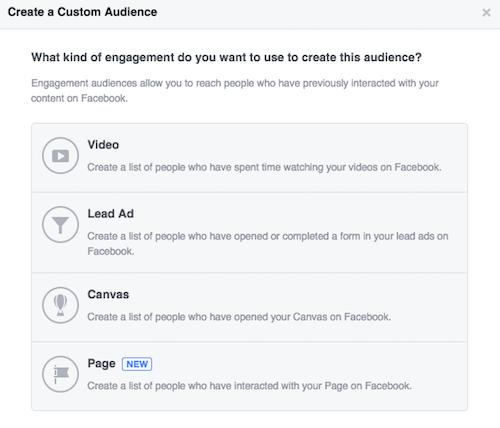 how to create custom audience on facebook