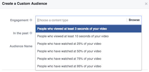 Amount of time Facebook Video viewed