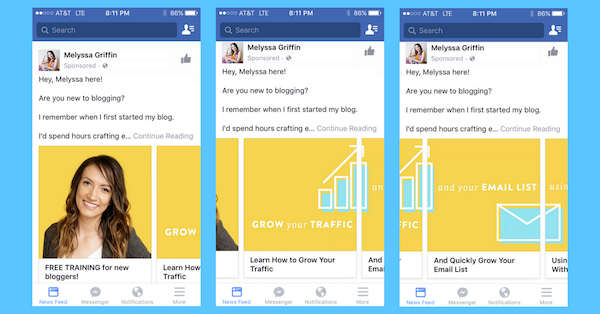 Effective Facebook carousel ad design