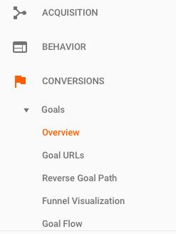 View Google Analytics goals conversion