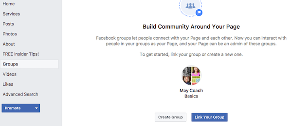 Link your Facebook Group to your Facebook Page