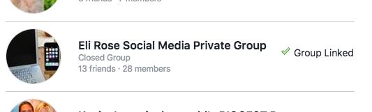 Confirm Facebook Group link