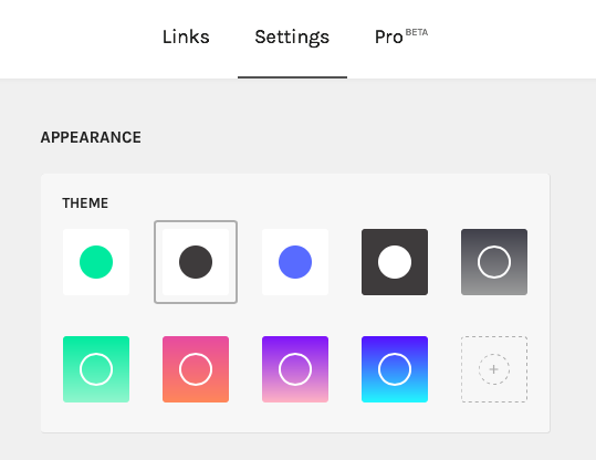 Add color to your Linktree landing page