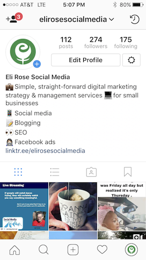 Instagram Personal Profile