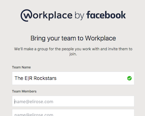 Name your Workplace by Facebook team