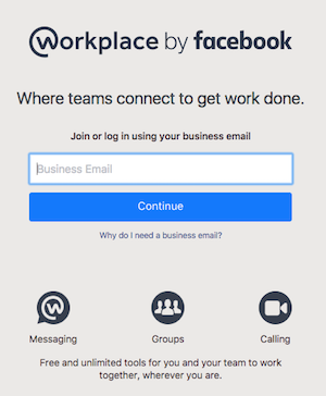 Join Workplace by Facebook