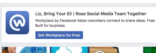Try Workplace by Facebook