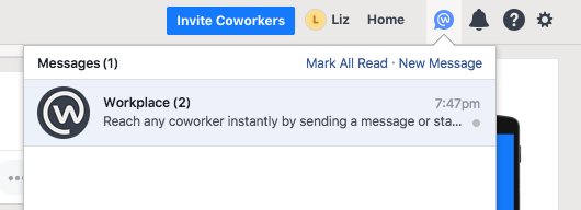 Send and receive messages in Workplace by Facebook