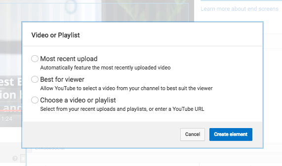Choose Video or Playlist YouTube