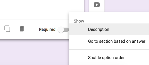 Google Forms Question Required