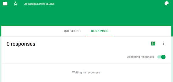 Set up Google Forms Responses