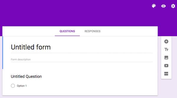 Title Google Drive Form