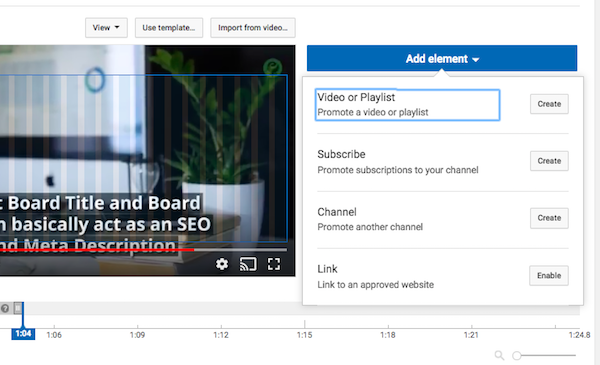 YouTube Add Elements