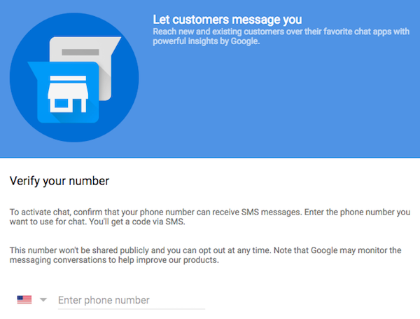 Activate SMS chatting with customers on Google My Business