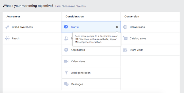 Choose Best Facebook Ad Objective