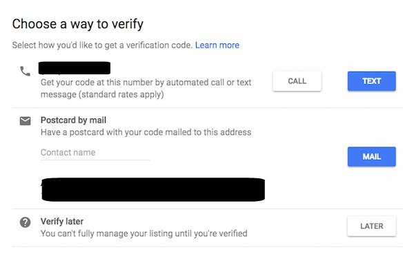 Google My Business 3 Ways to Verify