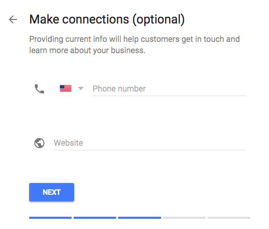Google My Business Add Phone Website