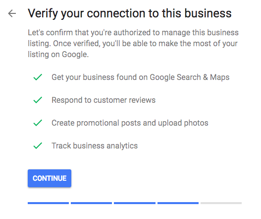 Google My Business Confirm Listing