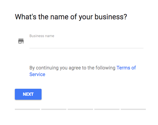 Google My Business Enter Business Name