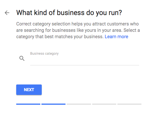 Google my Business Business Category