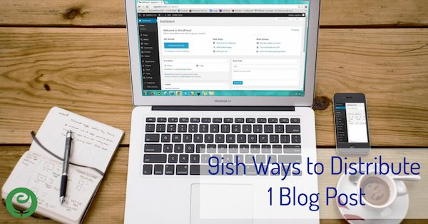 9ish Ways to Distribute 1 Blog Post