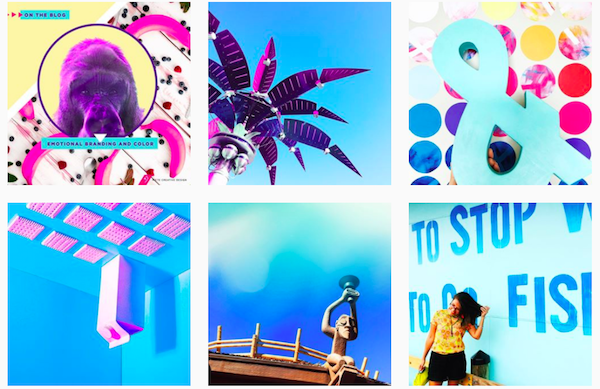 Develop brand colors for Instagram posts