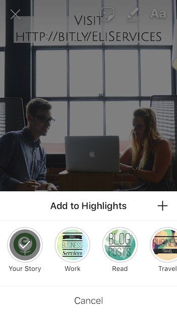 Add New Instagram Stories to Existing Instagram Highlights