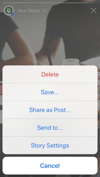 Edit Instagram Story Settings