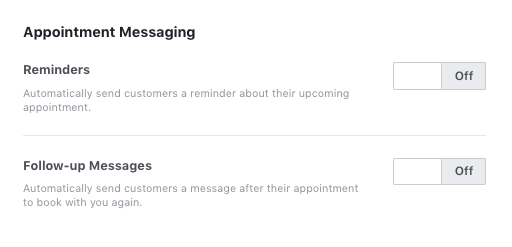 Facebook Business Page Appointment Messaging